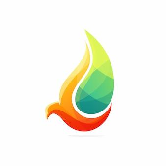 Bird oil logo vector