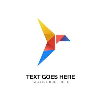 Bird origami logo