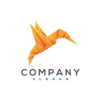 Bird origami style logo