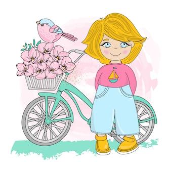 Bird party valentines day illustration set