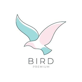 Птица премиум дизайн логотипа