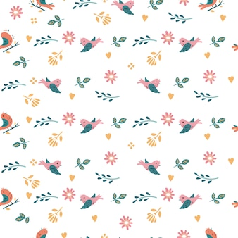 Bird seamless pattern