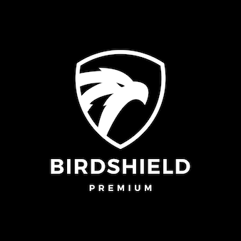 Bird shield eagle hawk logo icon illustration