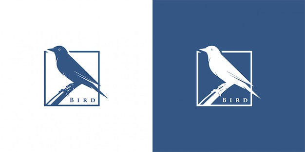 Bird silhouette logo design inspiration vector