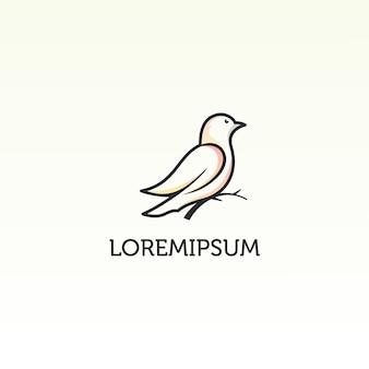 Bird simple logo template