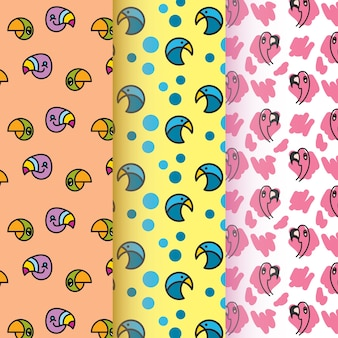Bird symbol pattern collection
