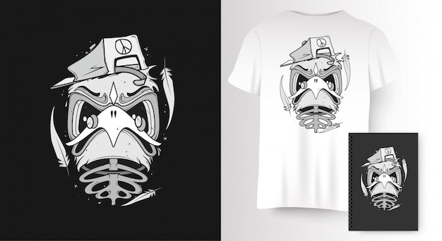 Bird for t-shirt print