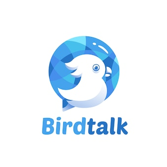 Bird talk logo template