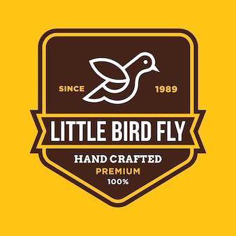 Bird vector logo illustration
