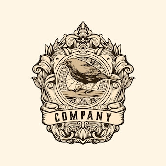 Bird vintage logo template