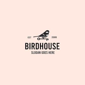 鳥のヴィンテージロゴ