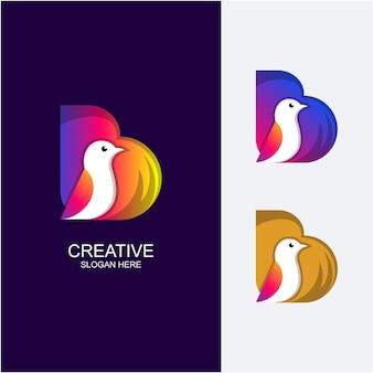 Bの素晴らしいグラデーションカラーの鳥