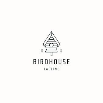 Birdhouse logo icon design template flat vector