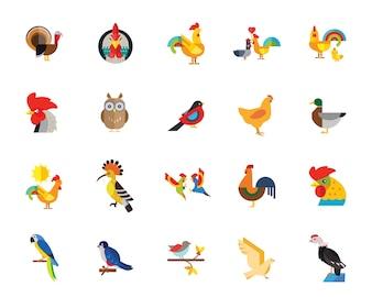 鳥アイコンセット