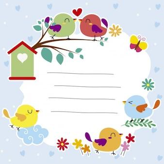Birds illustration Free Vector