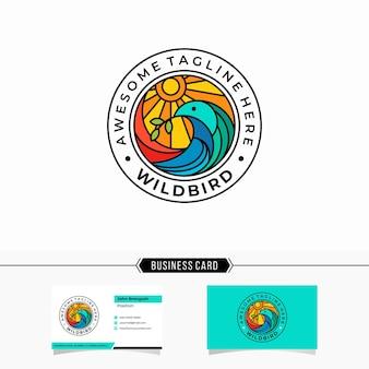 Шаблон логотипа птицы