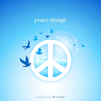 Birds peace sign background