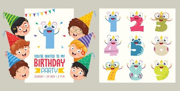 Birhday invitation card design