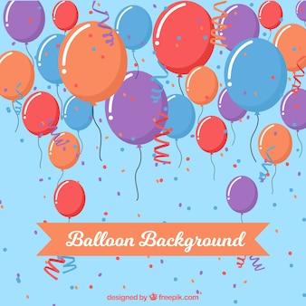Birhtday balloons background to celebrate
