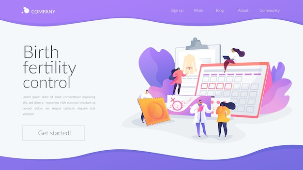 Birth fertility control landing page template