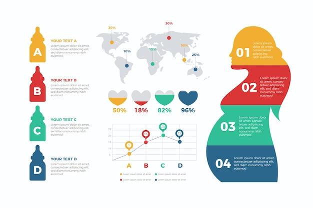 Concetto di infografica tasso di natalità