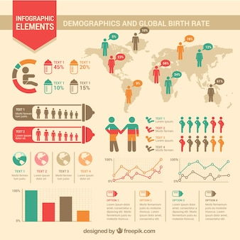 Birth rate infographic