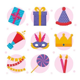 誕生日やパーティーのイラスト集