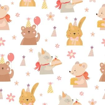 Birthday animals pattern