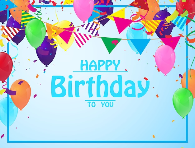 Birthday background design vector illustrations