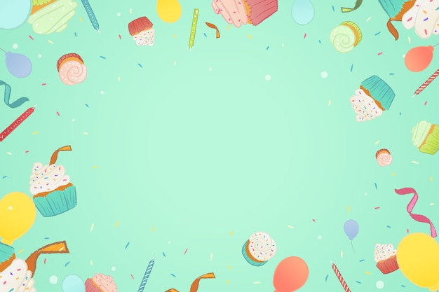 Birthday background flat style