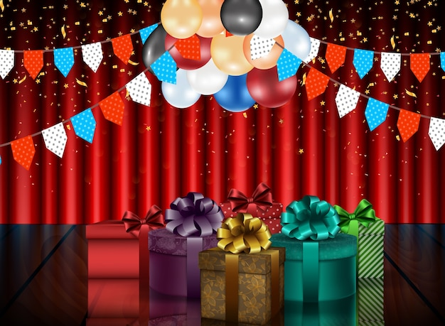 Birthday background of party