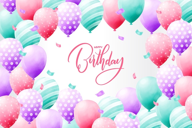 Birthday background watercolor design