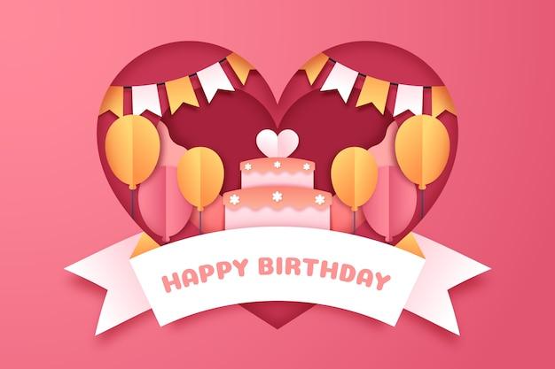Sfondo di compleanno con torta