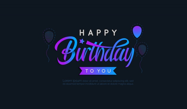 Birthday background with gradient letter