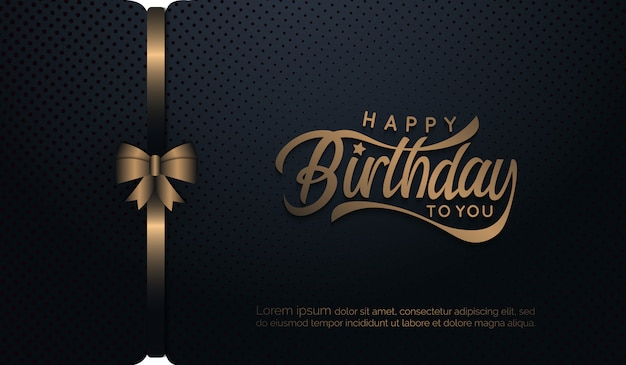 Birthday background with ribbon