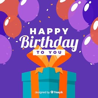 Sfondo di compleanno Vettore gratuito