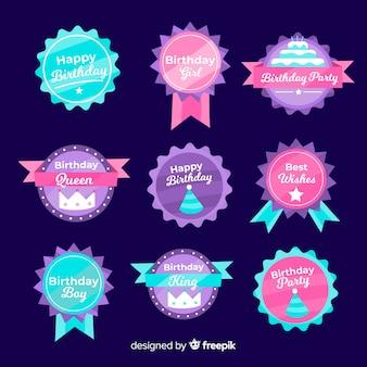 Birthday badge collection