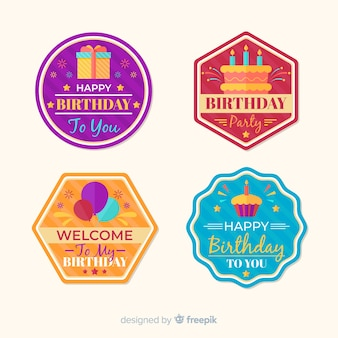 Birthday badge collection