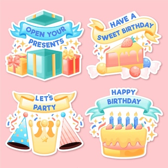Коллекция значков дня рождения