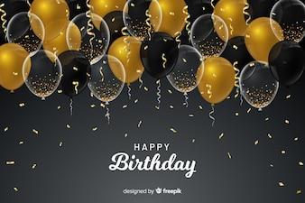 День рождения шары фон