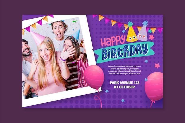 Concetto di banner di compleanno
