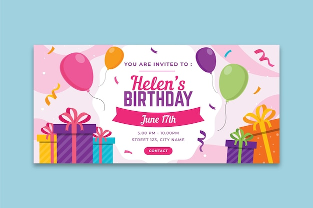 Birthday banner concept