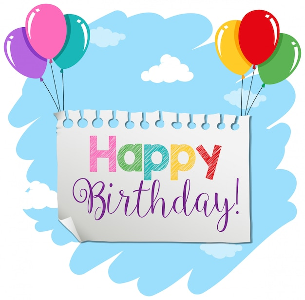 A birthday banner template