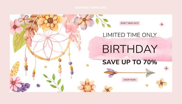 割引付きの誕生日バナー