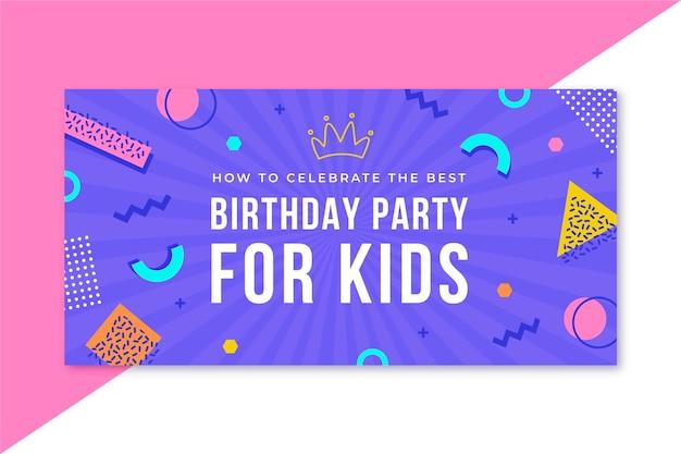 Birthday blog header template