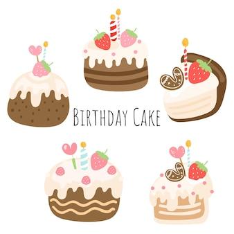 생일 케이크, 생일 요소입니다.