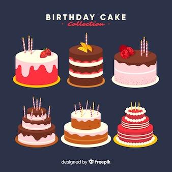 Коллекция торта ко дню рождения