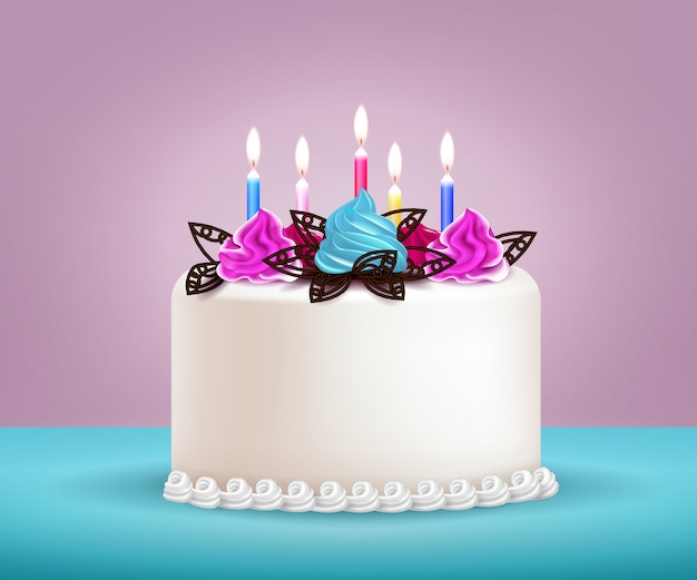 День рождения торт иллюстрация