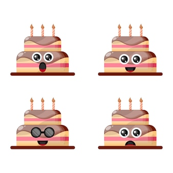 생일 케이크 마스코트 귀여운