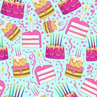 День рождения торт бесшовные модели